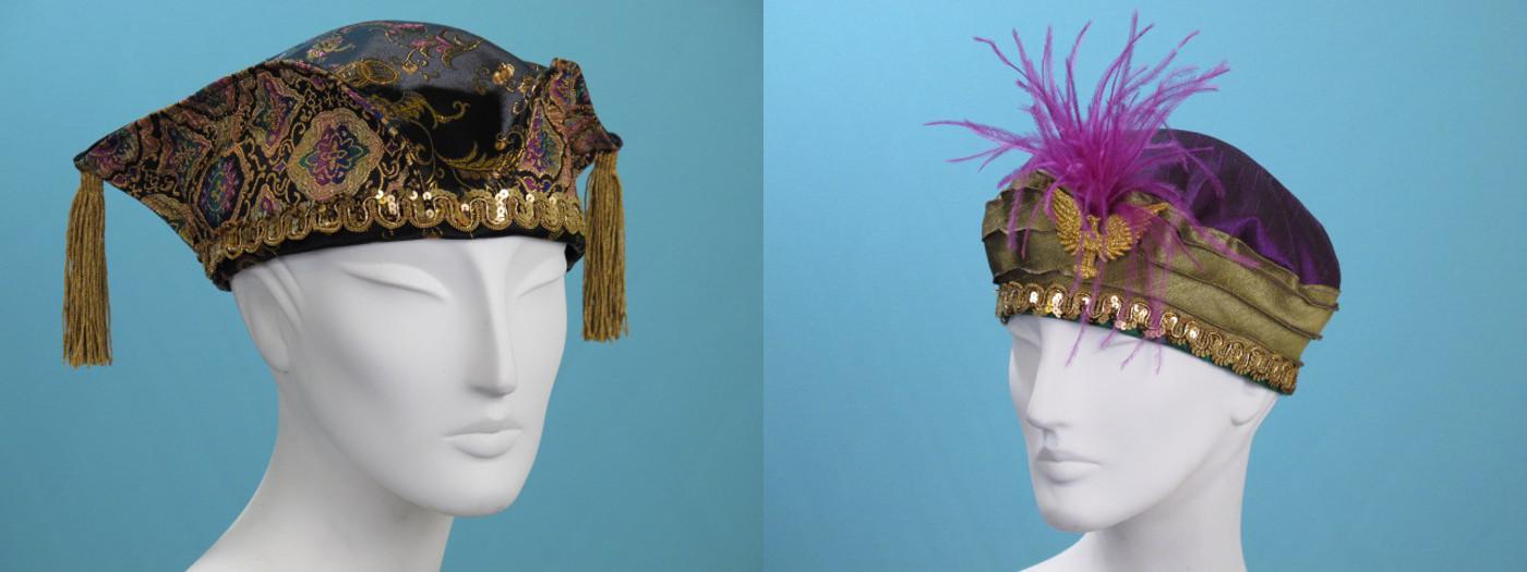 Handcrafted Mardi Gras Hats